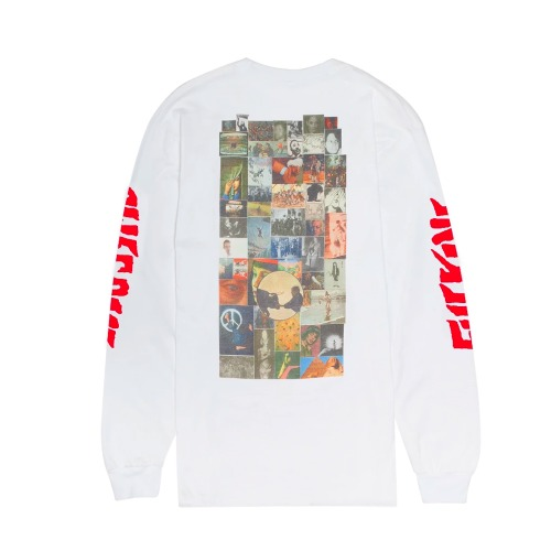COLLAGE L/S TEE WHITE