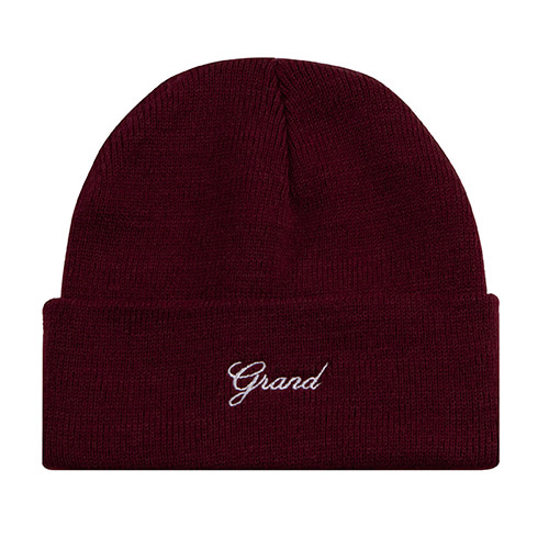 GRAND SCRIPT BEANIE BURGUNDY