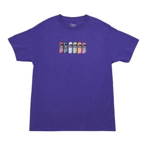 BURNER PHONE TEE PURPLE