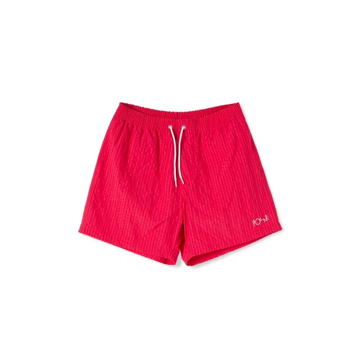SEERSUCKER SWIM SHORTS BERRY