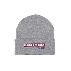 BLOCKED BEANIE - HEATHER GREY