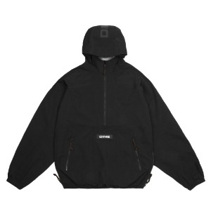 PULLOVER HOODED SHELL - BLACK