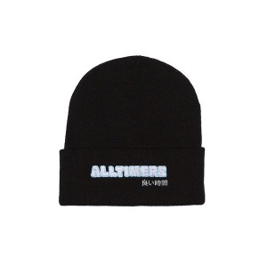 BLOCKED BEANIE - BLACK