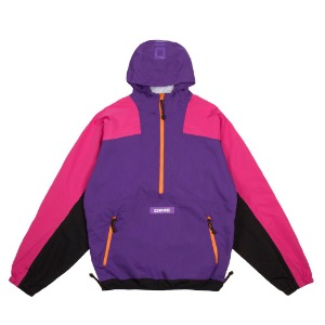 PULLOVER HOODED SHELL - PURPLE
