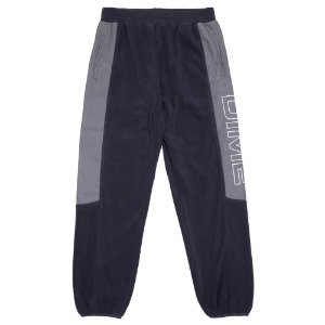 POLAR FLEECE TRACK PANTS NAVY/CHARCOAL