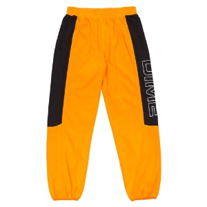 POLAR FLEECE TRACK PANTS GOLD/BLACK
