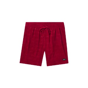 FUCK IT CORDUROY EASY SHORT ROSE WOOD RED