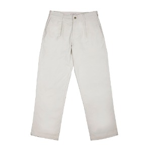 CORDUROY SLACKS WHITE