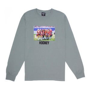 CHEERLEADER L/S TEE STONEWASHED GREEN