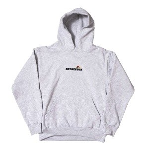 EMBROIDERED SPEED HOODY ASH