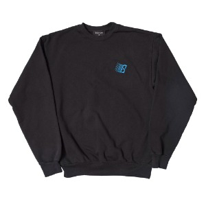 EMBROIDERED B LOGO CREW NECK OFF-BLACK