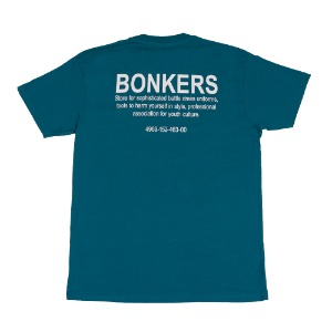 BONKERS MILITARY T-SHIRT TEAL