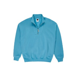 ZIP NECK SWEATSHIRT BLUE