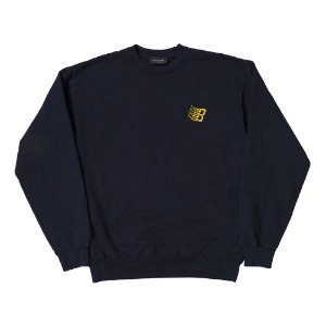 EMBROIDERED B LOGO CREW NECK NAVY