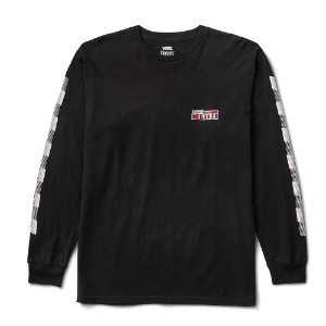 VANS X BAKER SPEED CHECK LS TEE BLACK