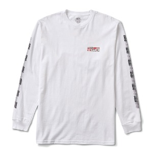 VANS X BAKER SPEED CHECK LS TEE WHITE