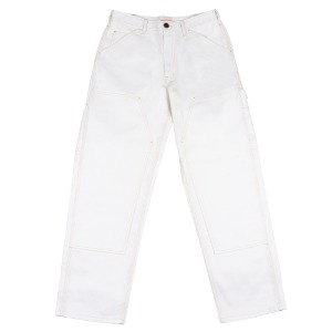 DOUBLE KNEE WORK PANTS WHITE