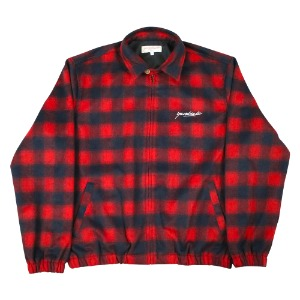 TARTAN HERRINGTON JACKET RED