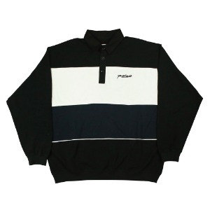 HEAT LONGSLEEVE POLO BLACK