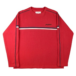 PACIFIC RIBBED CREWNECK CARDINAL