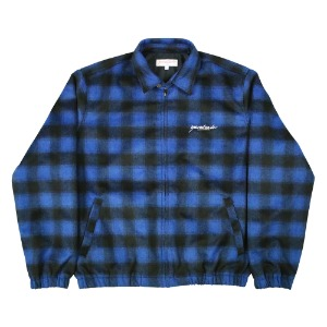 TARTAN HERRINGTON JACKET BLUE