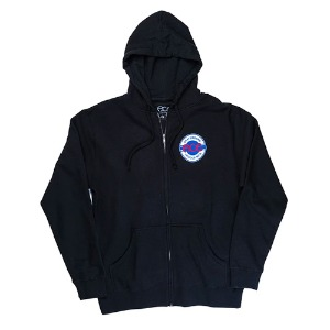 ACE SEAL LOGO ZIP HOOD BLACK