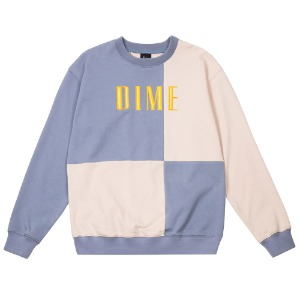 BLOCK TERRY CREWNECK LIGHT BLUE/CREAM