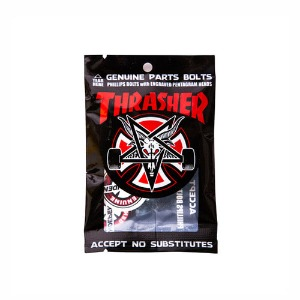 "THRASHER HARDWARE BLACK/SILVER 1"" PHILLIPS"