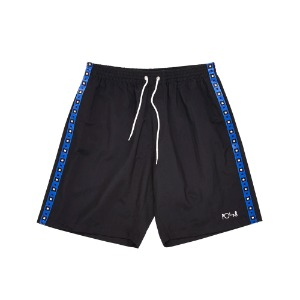 SQUARE STRIPE CITY SWIM SHORTS BLACK