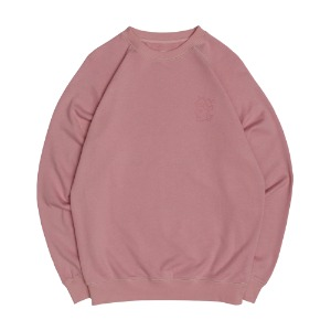 TONAL QH RAGLAN CREWNECK LIGHT PINK