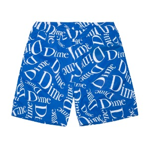 DIME CLASSIC PATTERN SHORTS ROYAL