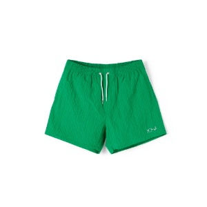 SEERSUCKER SWIM SHORTS GREEN