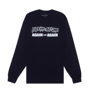 AGAIN AND AGAIN L/S TEE BLACK/WHITE