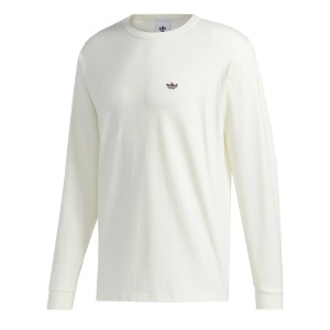 H SHMOO L/S TEE OFF WHITE/MINERAL RED