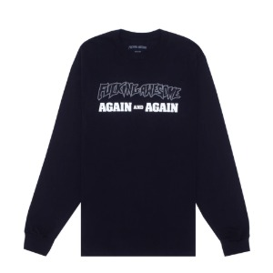 AGAIN AND AGAIN L/S TEE BLACK/SILVER