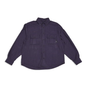 MEN'S SHIRT PURPLE CHECKS