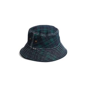 MEN'S BUCKET HAT GREEN CHECKS