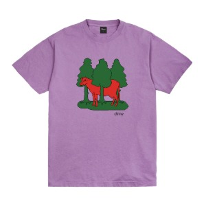 FOREST COW T-SHIRT - LAVENDER