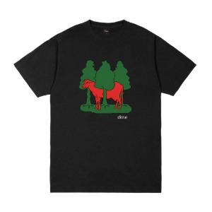 FOREST COW T-SHIRT - BLACK