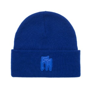 FA Applique Cuff Beanie - Royal