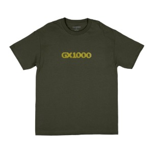 DITHERED LOGO MILITARY GREEN