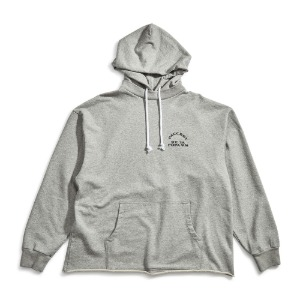 MEN'S PRINTED HOODIE WITH RAW EDGED